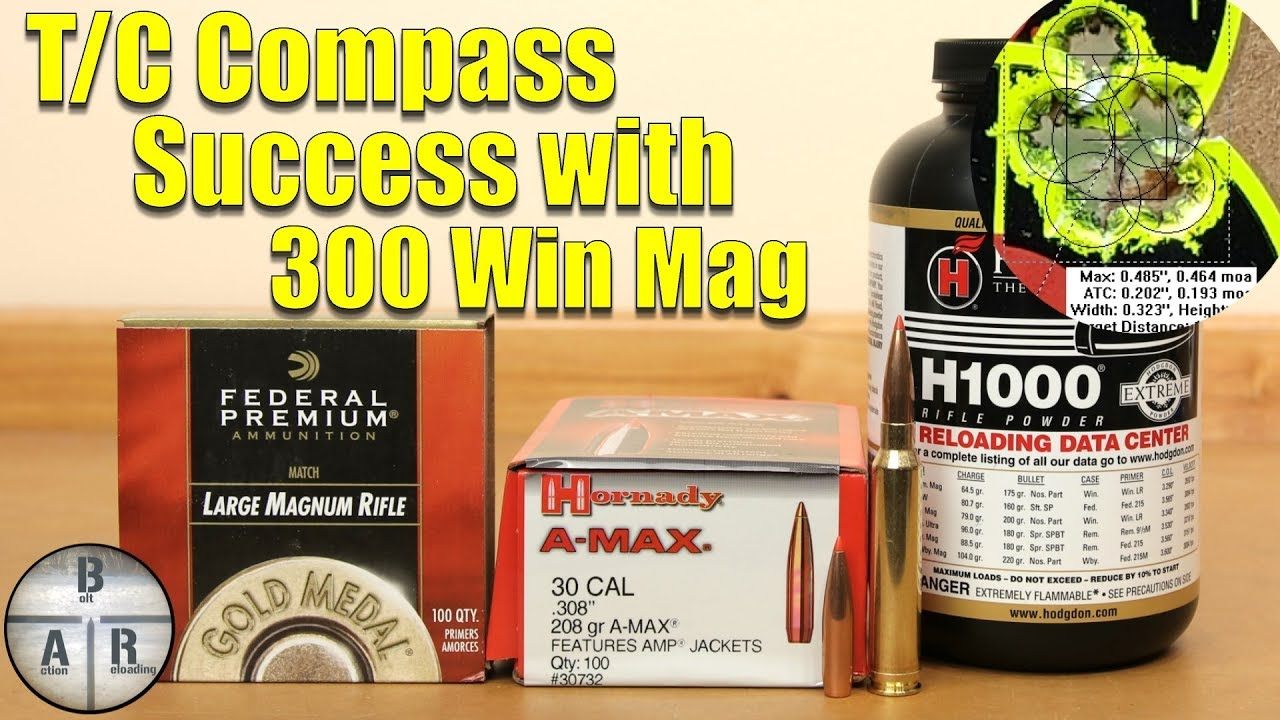 Thompson Center Compass - 300 Win Mag Hornady 208 with Hodgdon H1000 Load  Development