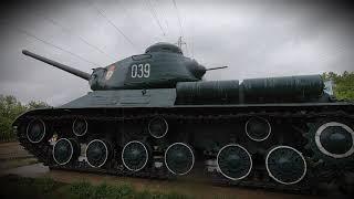 Танк ИС 2 Анива Сахалин Победа на островах. По дороге в Аниву.
