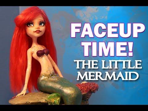 Faceup Time! The Little Mermaid Ariel Custom OOAK Doll