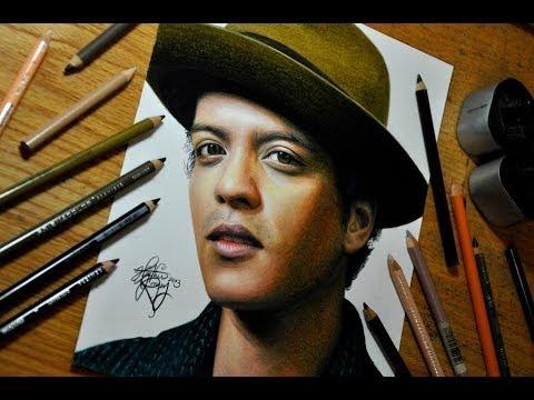 Drawing Bruno Mars - YouTube