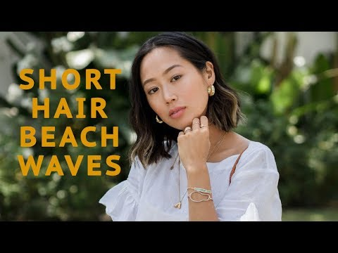 Super Easy Short Hair Beach Waves | Aimee Song