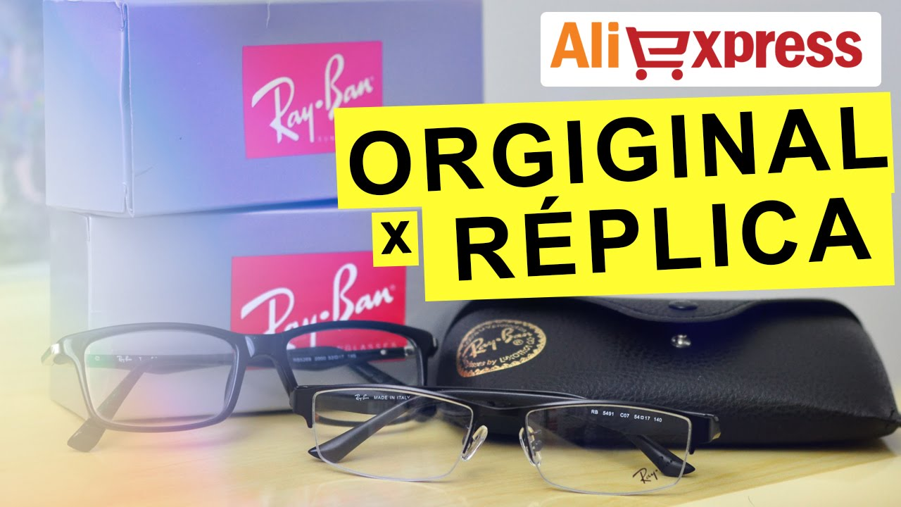 RayBan do Aliexpress (Original x Réplica) - Unboxing - YouTube ca78ec5944