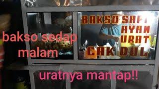 indonesian Bali street food, bakso cak doel sedap malam