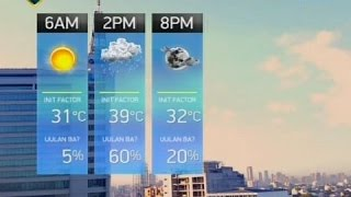 24 oras weather update as of 6 22 p m march 25 2017