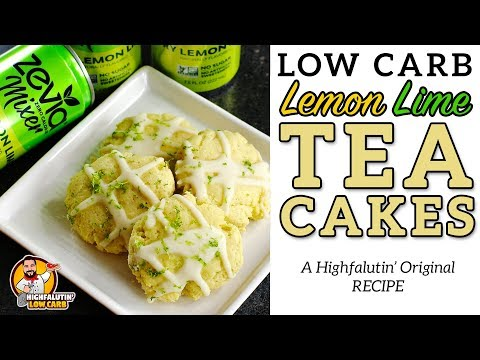 Low Carb Lemon-Lime TEA CAKES - Southern Keto Tea Cake Cookies - Zevia Recipe