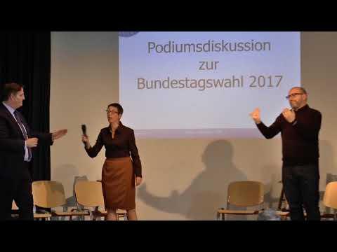Podiumsdiskussion zur Bundestagswahl 2017 (mit Gebärdensprache)