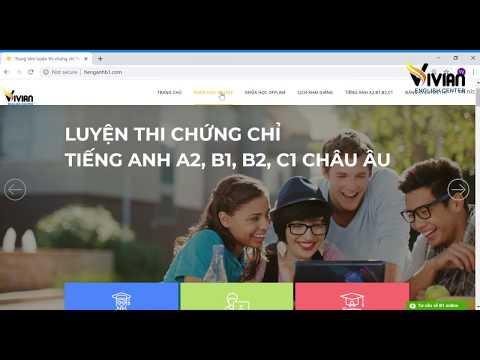 Phần mềm luyện thi chứng chỉ tiếng Anh B1, B2, C1 Vstep - TiengAnhB1.Com