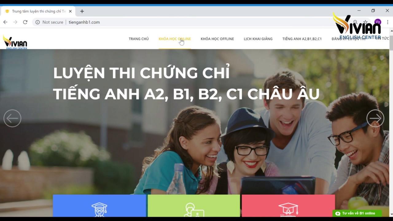 Video học trực tuyến chứng chỉ tiếng Anh B1, B2, C1 Vstep – TiengAnhB1.Com