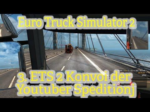 Euro Truck SImulator 2 online [003] / Ab nach Skandinavien / Youtuber Speditions Konvoi
