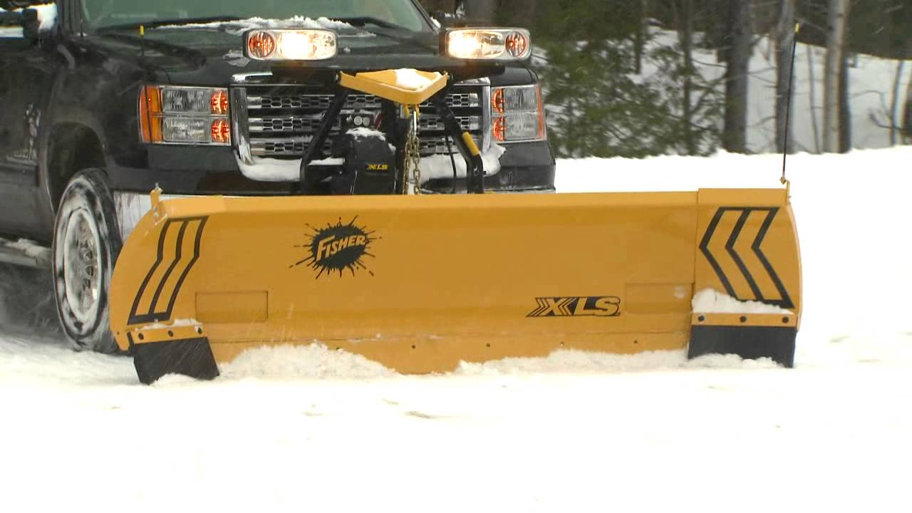 Fisher Snowplows - XLS Snow Plow - YouTube