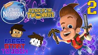 Jimmy Neutron AOTT: Jimmy's Minecraft Adventure! #2 - Press Start To Join