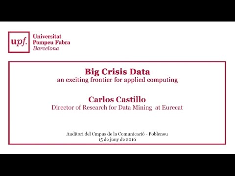 Big Crisis Data - An exciting frontier for applied computing