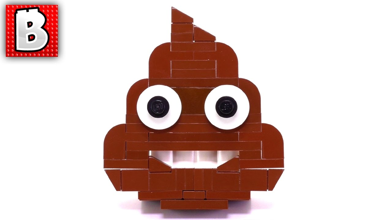 LEGO Talking S*#@!!! Pile of Poo Emoji MOC + HOW TO BUILD ...