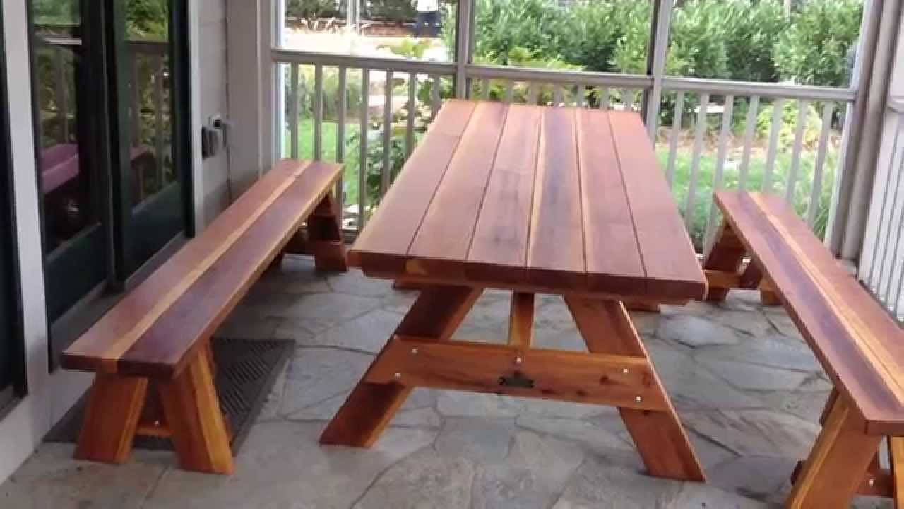 Superior Forever Redwood Picnic Table + Bench Assembly Service In DC MD VA By  Furniture Assembly Experts LLC