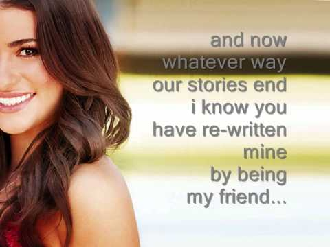 For good - Glee (Lyrics)