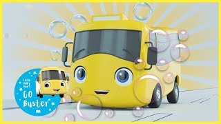 Buster's Bubble Bath | Nursery Rhymes | Videos for Kids |  ABCs and 123s | GoBuster Official |