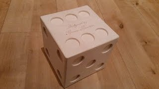 Wooden Dice Puzzle Box With Secret Compartment