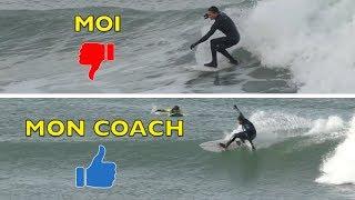 JE ME FAIS COACHER EN SURF ! (Y A DU BOULOT !)