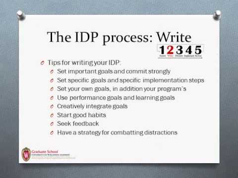 Individual Development Plans (IDPs): Overview for Graduate ...