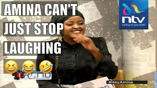Comedians Chipukeezy, Salvador get Amina laughing so hard || #the Trend