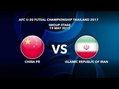 M31 CHINA PR vs ISLAMIC REPUBLIC OF IRAN - AFC U-20 Futsal Championship Thailand 2017