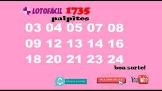 lotofacil 1735 - palpite - 09/11/2018