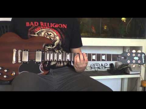 Bad Religion - Punk Rock Song - Guitar Cover