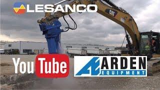 Lesanco viser ARDEN Betonknuser vand-jet