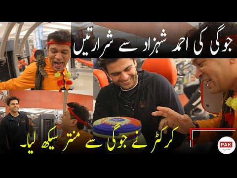 Joggi Baba Competition With Cricketer Ahmad Shahzad At Gym. [Complete]