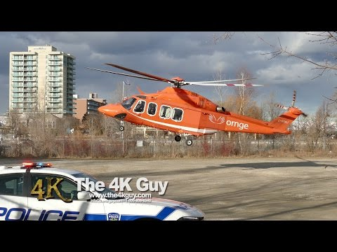 Mississauga: Car crash with water rescue & air ambulance 3-21-2016