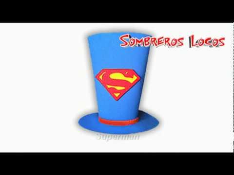 Sombreros Locos - Sombreros para fiestas - YouTube