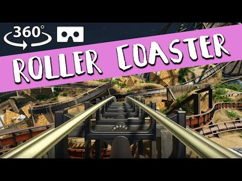 360° VR Roller Coaster - 5 Roller Coasters In One! - VR Box, Virtual Reality, 360° 4k