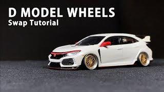 D MODEL WHEELS Swap Tutorial|Modifying with Delicate 1:64 Wheels!