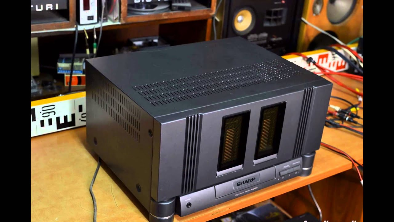 sharp sx 8800h stereo power amplifier verst rker endstufe amp wzmacniacz amplificador youtube. Black Bedroom Furniture Sets. Home Design Ideas