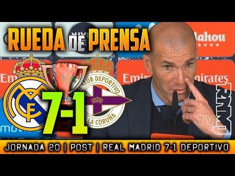 Real Madrid 7-1 Deportivo Rueda de prensa de Zidane (21/01/2018) | POST LIGA JORNADA 20