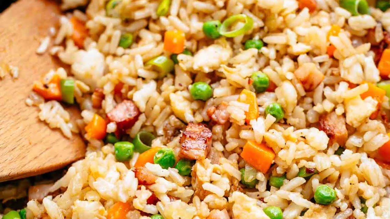 Fried Rice With Bacon Cafe Delites