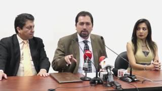 Rueda de prensa - Posesión de Ramiro Rivadeneira Defensor del Pueblo reelecto