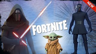 FORTNITE - New Kylo Ren Skin ( LEAKED ) - World Record Attempt ( Biggest Lightsaber Battle Ever )