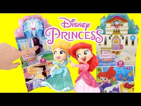 Disney Princess Comics Cinderella and Little Mermaid Collectible Figurines