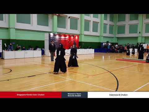 3member Ladies Team Round Robin - Singapore Kendo Club vs Indonesia B - Chuken