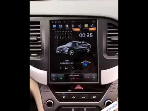 Toyota Santa Fe >> Hyundai ELANTRA Tesla Vertical screen Indash Auto ...