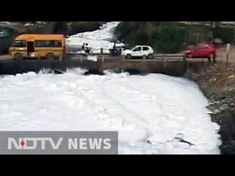 Authorities inspect Bengaluru's polluted bellandur lake