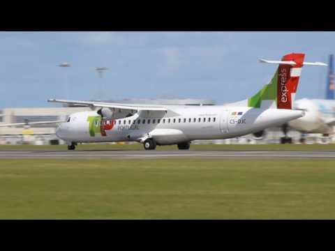 ✈ New ATR 72 TAP Express ☛ CS-DJC ☚ taking off from Lisbon Airport ✈