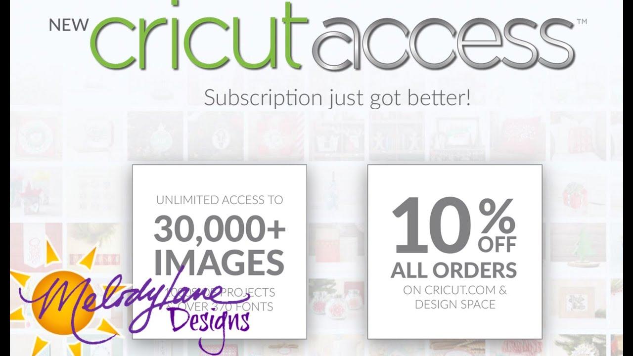 Cricut Access Subscription Update
