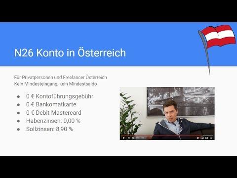 N26 Konto österreich Gratis Konto Auch Für Uns Youtube