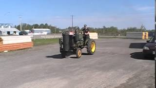 Wood Gas Tractor Project. Driving The John Deere For The First Time On Wood