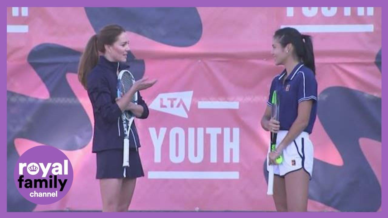Kate Holds Court with Tennis Ace Emma Raducanu