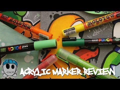 Big Acrylic Marker Review Montana/Molotow/Posca