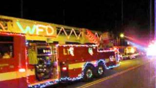 Sun Prairie Fire Dept. Christmas Parade 11-26-10.wmv