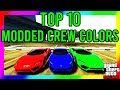 GTA 5 - TOP 10 MODDED CREW COLORS (Secret Gold, Pure White/Black and MUCH MORE!!)